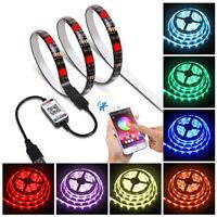 Wireless Smart RGB LED Strip Light Bluetooth Control USB Powered Sync Lamp NEW