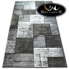 Grueso Calidad 20mm Diseño Moderno Densamente Muy Suave Rugs Sombra 8386 Negro