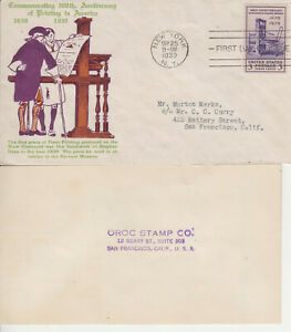 FDC #857 PRINTING ULTRA ESPENSHADE CACHET MULTI-COLOR TA NY SEP 25 1939 OPENED