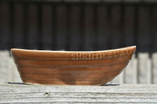 "Vintage Brown Glazed 7"" T.C.GREEN & CO Ltd SHRIMP BOAT Church Gresley England"