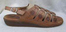 WOMENS ELITES WALKING CRADLES Sandals 12 N Narrow Brown Leather EUC $7 SHIP
