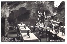 Mexico real photo postcard Teotihuacan Restaurant La Gruta dining room
