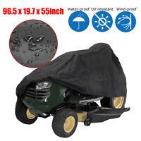 96.5''Black Garden Tractor Heavy Duty Riding Lawn Mower Cover Waterproof