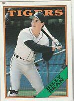 FREE SHIPPING-MINT-1988 Topps #267  Billy Bean  Tigers PLUS BONUS CARDS