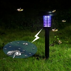LED Garden Waterproof Solar Power Mosquito Killer Lawn  Fly Bug Insect Trap NEW