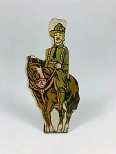 U.S. Calvary #5 Vintage Marx Toy Lithograph Tin Foot Army Soldier Litho Figure
