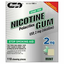 Rugby 2 mg Nicotine Mint Uncoated Sugar Free Gum Box of 110 Sealed EXPIRES 8/22