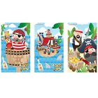 6/12/24/36 Kids Pirates Notebooks Notepads Party Bag Filler - 3 Mixed Designs