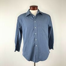 Yves Saint Laurent Blue Stripe Button Down Shirt  |  Mens 15/34-35