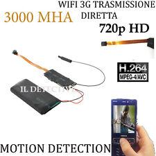 Spy Camera Spia WIFI HD 1280p TELECAMERA MICRO NASCOSTA MICROCAMERA