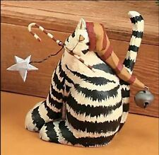 More details for williraye studio ww2568 'sweet treat' christmas cat with hat and candy cane