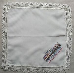 Vintage Handkerchief MENS Hankie Top Pocket Square BEN NEVIS PORT WILLIAM TOP