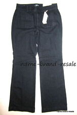 $69 Ann Taylor LOFT Jeans NWT Womens 6 CURVY Dark Wash Denim Wide Leg Trouser