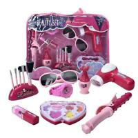 1 Set Cosmetic Box Lovely Pink Play House Toy Beauty Nice For Girls Bag Cos F4V0