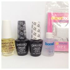 Opi Gelcolor Starter Kit Top Coat, Base Coat, Bond ayuda 15ml & Avoplex Aceite!!!