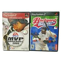MVP Baseball 2005 & Backyard Baseball 2009 PS2 Sony PlayStation 2 Games Tested