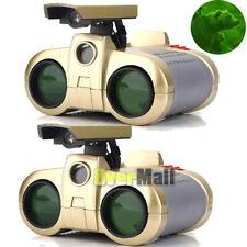 2pcs Night Vision Surveillance Scope Binoculars Telescope Pop-Up Light 4 X 30 Mm