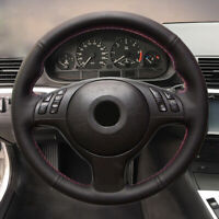 Hand-stitch PU Leather Steering Wheel Wrap Cover For BMW M6