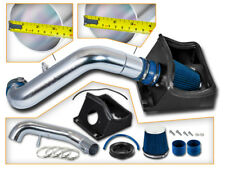 BCP BLUE 11-14 Ford F150 5.0L V8 Heat Shield Cold Air Intake System + Filter