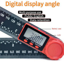 "Electronic LCD Digital Angle Finder 8"" Protractor Ruler Goniometer With Battery"