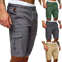 Herren Cargo Shorts Bermuda Short Kurze Hose Camo Knielang Hosen Mode Sommer JO