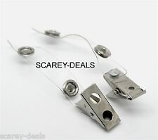 10x crocodile clips ID Card Badge Holders belt clip NHS SECURITY 1st class post