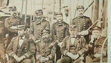 New listing Rare American Civil War Us Navy Large Group Officers Photo Original Albumen