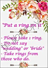 Floral Bridal Shower Put A Ring On It Printable Sign