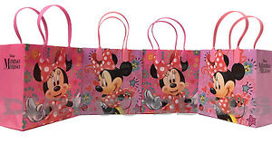 12 pc Disney Minnie Mouse Party Favors Gift Toy Bags Birthday Candy Mickey Treat