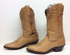 WOMENS LAREDO COWBOY LEATHER MAN MADE LIGHT BROWN BOOTS SIZE 7 M