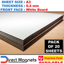 20 x A3 Whiteboard Magnet Sheets White Board Wedding Art DIY LARGER THAN A4