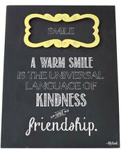 Smile Sign Plaque Warm Smile Universal Language Friendship Friends Family Gift