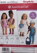 "18"" AMERICAN GIRL DOLL CLOTHES Simplicity Sewing Pattern 8191 NEW Uncut"