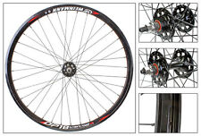 Track Fixed Gear Wheel set Fixie 700C BLACK DEEP V 32MM DP18 Weinmann black