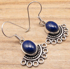 Natural LAPIS LAZULI Stone Earrings ! Silver Plated Fashion Jewellery