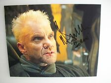 Hand Signed 8x10 colour photo MALCOLM MCDOWELL in STAR TREK GENERATIONS as SORAN