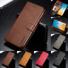 Echtes Leder Flip Wallet Case Cover für Huawei P40 30 20 Pro 10 Lite Smart + Z