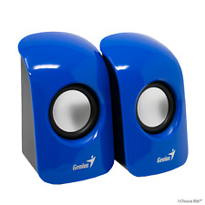 Genius SP-U115 Stereo USB Powered 2.0 Speakers / 1.5W Output + 3.5mm Plug / Blue