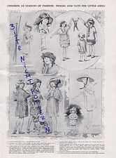 LONDON, Anzeige 1913, Fashion for children Frocks Hats for little girls