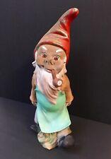 "14"" Heissner West Germany Gnome No wheel barrow Pipe Vintage"