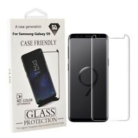 Samsung Galaxy S9 Screen Protector Case Friendly 3D Curved Tempered Glass Clear