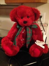Annette Funicello Rosie Christmas Bear Collectible BEAR CO Candy Cane Buttons LE