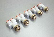 "SMC KQ2U11-U04 branch Y 3/8"" tube 1/2""UNI thread pneumatic fitting *LOT OF 5*"