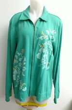 Sport Savvy green embroidered zippered long sleeve cotton spandex - size XL