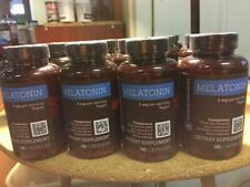 4- Amazon Elements Melatonin 5mg, Vegan, 195 Capsules 4 bottles - FREE SHIP!A121
