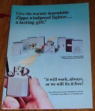 1973 ZIPPO CIGARETTE LIGHTER AD~MIAMI DOLPHINS~DUCK HUNTER~MERRY CHIRSTMAS