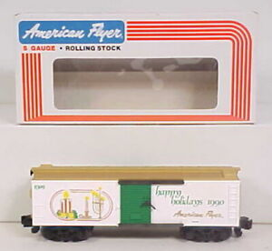 American Flyer 6-48309 Holiday Greetings Boxcar 1990 EX/Box