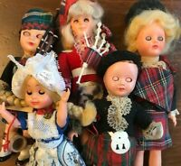 Vintage Scotland Dolls -antique dolls with many intricate details & resting eyes