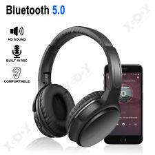 Auriculares Bluetooth 5.0 inalámbricos Sobre la oreja Auricular bajos plegables