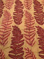 "Vintage 1940's Barkcloth Single Curtain Panel Fabric 41"" X 67"" Lined"